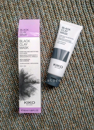 Маска для лица Black Clay Mask KIKO Milano