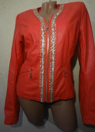 Красивая куртка из эко-кожи redial размер m l