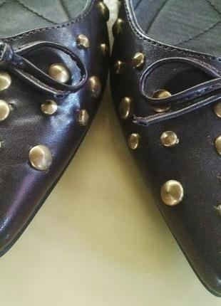 Балетки,туфли с заклепками,лодочки, lime(туфли)