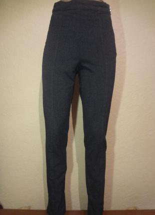 Классные с завышенной талией брюки h&m размер s
