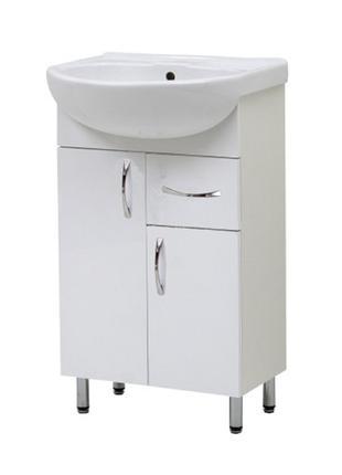 Тумба Эко в ванную с умывальником Изео 55