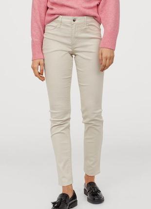 Базові котонові штани skinny