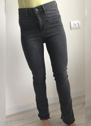 Джинси, джинси 2020, трендовые джинсы, серые джинсы, расклешен...