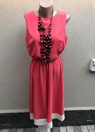 Легкое,комбинированное платье,сарафан большого размера. papaya