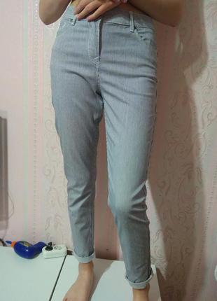 Стрейчевые брюки в полоску tu m ка