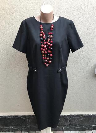 Платье футляр,по фигуре из фактурной ткани, большой размер, оф...