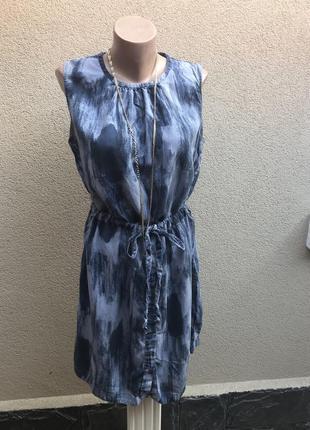 Платье,сарафан , туника под пояс, застежка по низу,расцветка п...