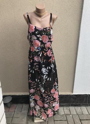 Легкое платье,сарафан с открытой спиной,прозрачный низ,большой...