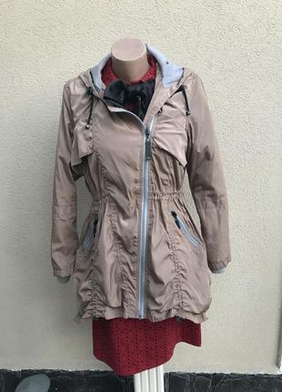 Куртка,парка удлиненная по спинке,ветровка с капюшоном,дождеви...