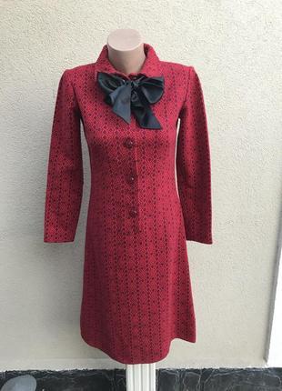 Шерстяное,тёплое платье на застежке,без подкладки, винтаж,ручн...