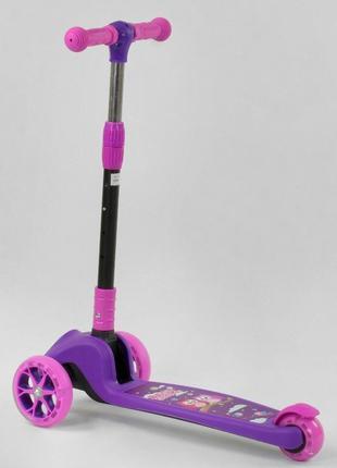 Самокат трехколесный 63440 Best Scooter, фиолетовый, свет колес и