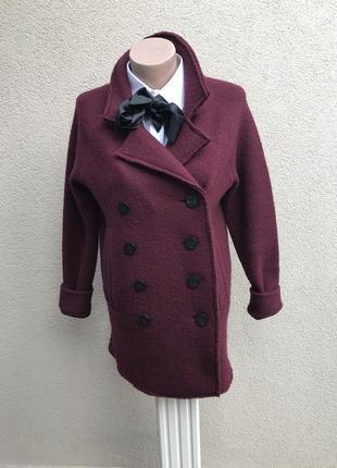 Шерстяное пальто марсал,полу-пальто,жакет,пиджак 100%шерсть,ко...
