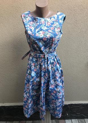 Новое,романтическое платье,сарафан,цветочный принт,ретро стиль...