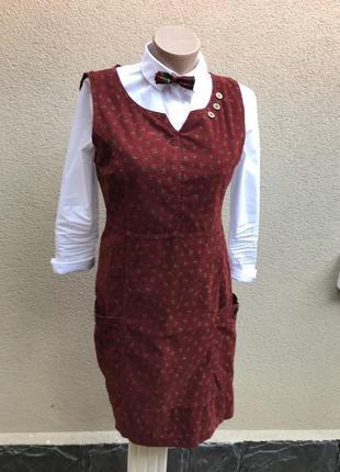 Платье,сарафан из мелкого вельвета в винтажном стиле,цветочный...