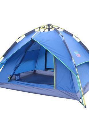 Автоматическая трехместная двухслойная палатка GREEN CAMP 1831