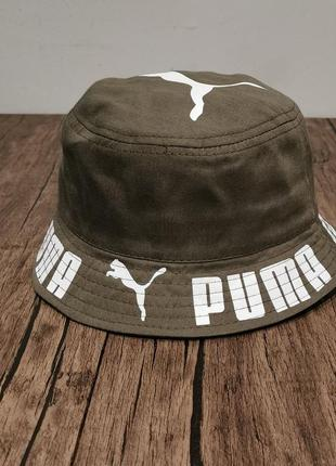 Мужская панама Puma хаки, кепка, панамка,бейсболка