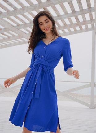 Платье-рубашка с драпировкой