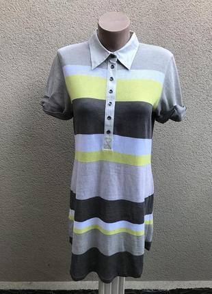 Крутое,спортивное,льняное платье,футболка,туника трикотаж в по...