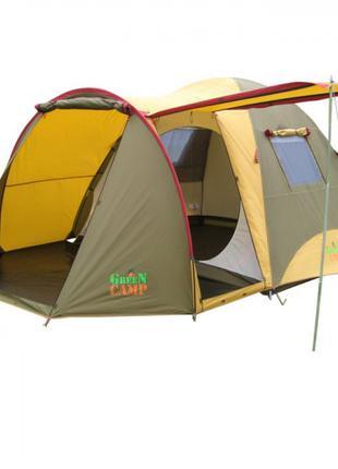 Двухслойная четырехместная палатка Green Camp X-1036 Б/Д