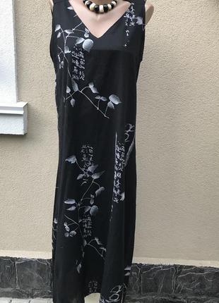 Легкое,тонкое,воздушное,длинное платье,сарафан в принт японски...