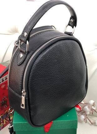 Кожаный рюкзак сумка италия кроссбоди
