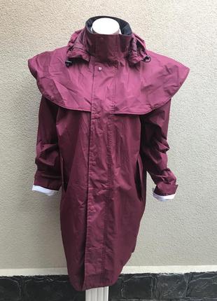 Плащ с капюшоном в англ.стиле,тренч,куртка,пальто,дождевик,под...
