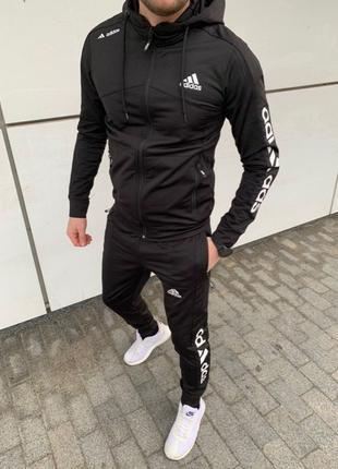 Спортивный костюм Adidas мужской чёрный спортивный костюм Адидас