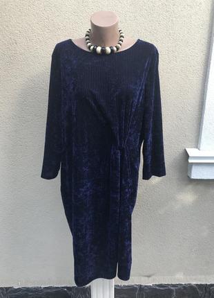Платье в рубчик под крупный,бархатный,велюровый вельвет,большо...
