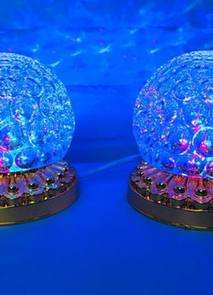Яркая, Вращающаяся диско лампа Led full color светодиодная