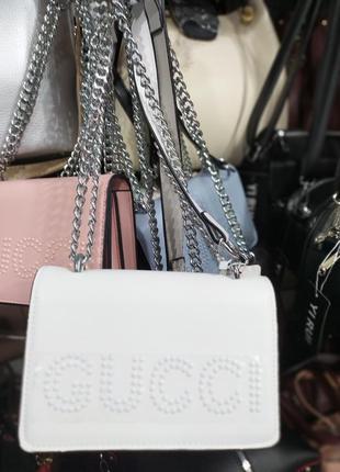 Клатч женский на цепочке, маленькая сумка