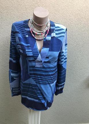 Блуза удлинён.спинка,рубаха100% шёлк,люкс бренд,оригинал,дизай...