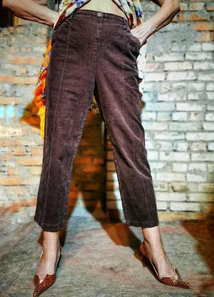 Брюки вельветовые микровельвет стрейч на резинке штаны высокая...