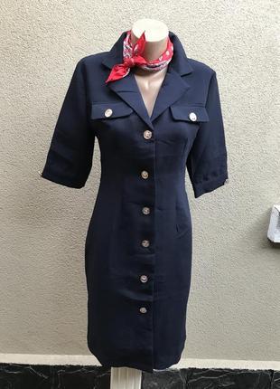 Платье-жакет,халат,платье-тренч на застёжке из плотной ткани,б...
