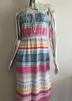 Платье сарафан в полоску tu