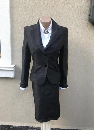 Шелк костюм,жакет(пиджак)+юбка,офис,люкс бренд,antonio derrico...