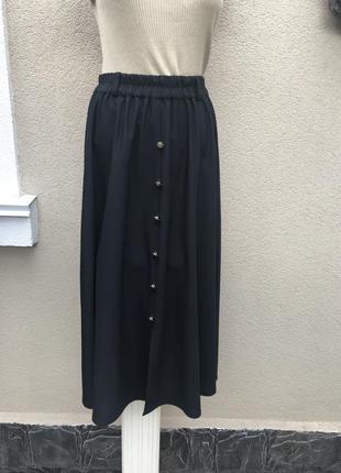 Чёрная,винтаж юбка,французский фабричный производитель с пугов...