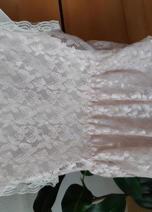 Нежная гипюровая блузка