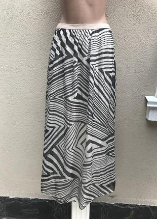 Легкая,шелковая,длинная юбка на подкладке, шёлк 100%, италия