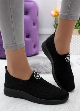 Новые шикарные женские чёрные кроссовки ⭕️распродажа⭕️