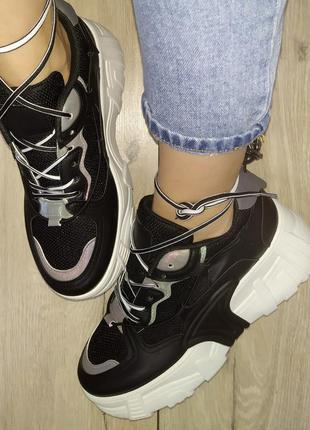 Летние кроссовки 🌿 текстиль женские платформа кросы толстая по...