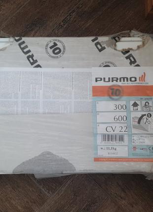 Продам стальной панельный радиатор Purmo Compact 300x600