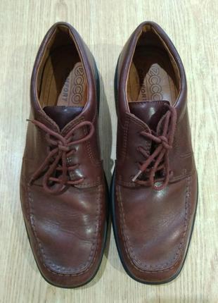 Туфли ecco мужские кожаные