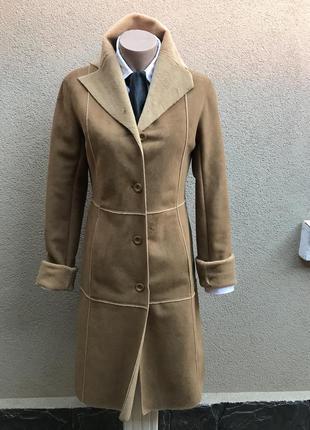 Легкая,тонкая дубленка,пальто тонкое, замшевое на меху, zara