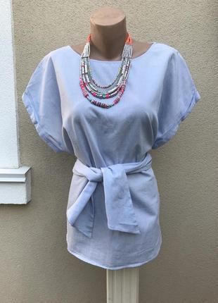 Красивая,блузка,рубаха под пояс,в мелкую полоску,большой разме...