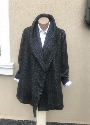 Пальто без пояса и застежки,кардиган,полупальто george,большой...