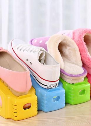 4 в 1 Двойные подставки для обуви органайзеры – Комплект 4 шт