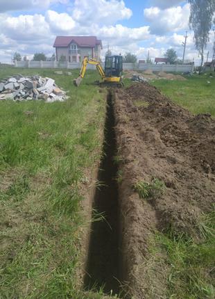 Услуги гусеничного мини экскаватора в Житомире