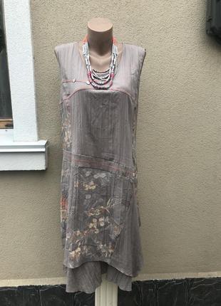 Ассиметричное платье,сарафан многослойный,туника,жатка,большог...