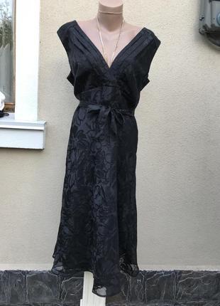 Чёрное,нарядное,вечернее платье,сарафан,открытая спина,большой...