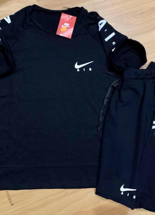 Мужской спортивный костюм футболка шорты